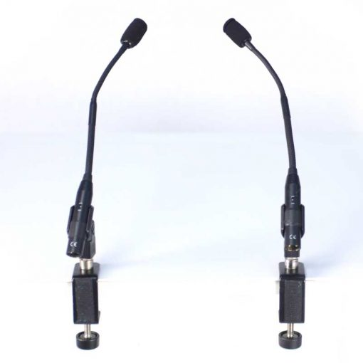 Audio Technica microphones and clamps