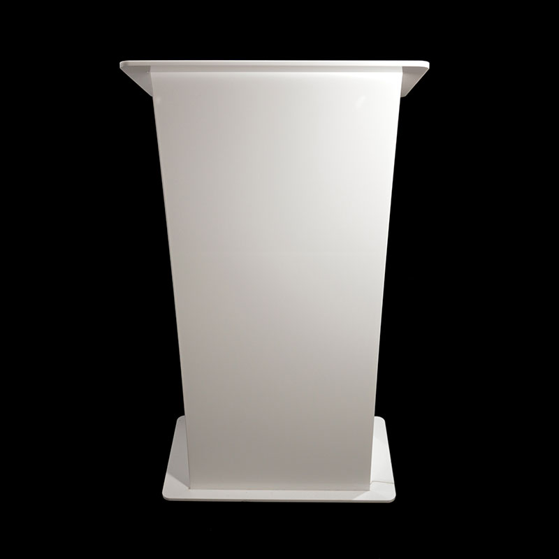 Hire White Stage Lectern Lecturn Hire Ipswich Suffolk
