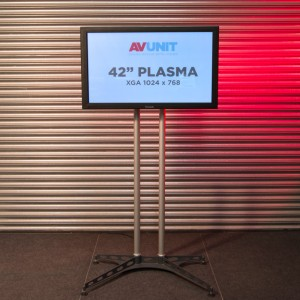 42 inch Plasma Screen on K-base stand Hire
