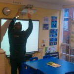 Classroom Short Throw Projector SMARTboard Install Suffolk
