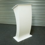 White Acrylic Lectern Hire Suffolk