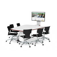 Synergy Blade Black 6 seat Collaborative Meeting Table