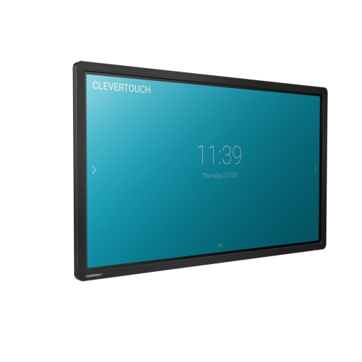 Clevertouch Plus Series touchscreen side angle