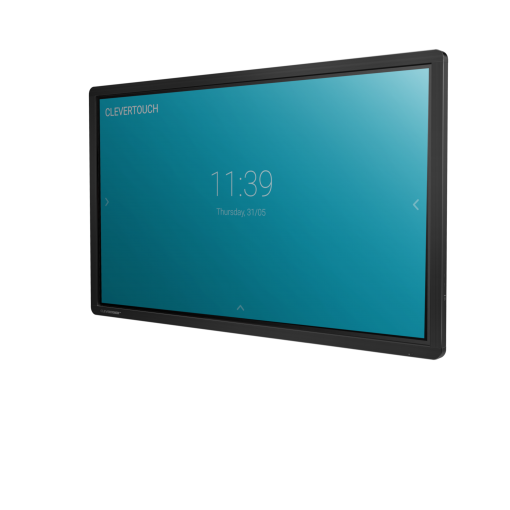 Clevertouch Plus Series touchscreen side angle 2
