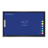 Clevertouch V Series interactive touchscreen FRONT