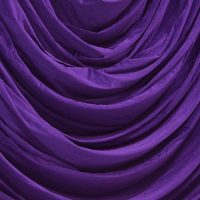 Purple Velvet Drape Swag