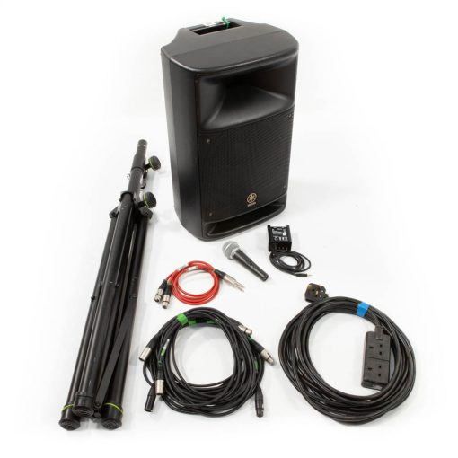 Speech PA package with microphone, stand, cables
