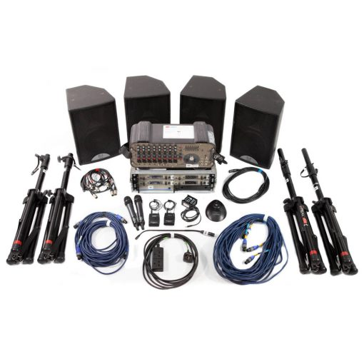 Medium Conference PA Package with 4 radio microphones