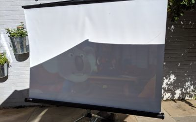 Why dosen't projection work well outside?